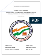 Role of Judicial Activism in Indian Politics in Relation With Judicial Adventurism and Its Impact on Indian Polity