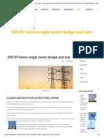 500 KV lattice angle tower design and test