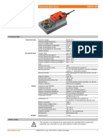 Belimo Damper Actuator GM24A0SR (Datasheet - 2007)