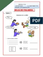 FAMILIA DE PALABRAS