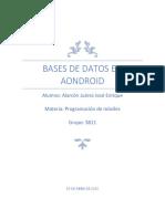 Bases de datos en aondroid