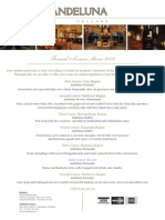 Formal 7-Course Menu