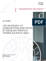 CFD Modeling of Auxiliary Fuel Injections in the Blast Furnace Tuyere Raceway Area