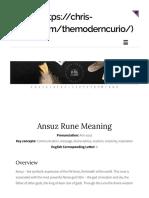 Ansuz rune meaning the modern curio