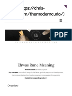 Ehwaz rune meaning the modern curio