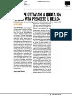 I 104 anni di Giuseppe Ottaviani - Il Corriere Adriatico del 20 maggio 2020