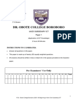 Subsidarry ICT Dr. Obote College Exams