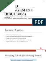 Brand Management Lesson 2