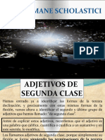 ADJETIVOS SEGUNDA CLASE