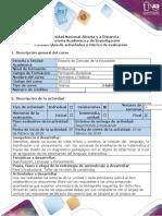 Guía de actividades Fase introductoria