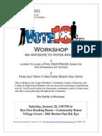 Vote18 Workshop
