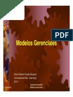 Introduccion Modelos Gerenciales