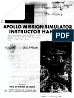 Apollo Mission Simulator Instructor Handbook VOLUME I Description