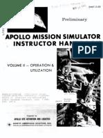 Apollo Mission Simulator Instructor Handbook VOLUME II Operation and Utilization