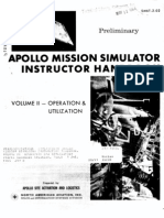 Apollo Mission Simulator Instructor Handbook VOLUME II Operation and Utilization