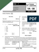 VA-08 Grammar 1 with Solutions(1)