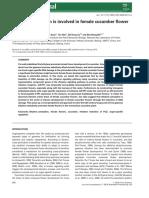 Ethylene perception is involved in female cucumber flower.pdf