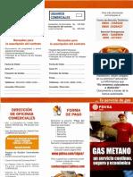 Folleto de Gas Metano