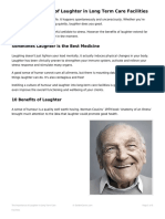 The Importance of Laughter in Long Term Care Facilities