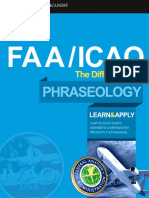ICAO-FAA difference in phraseology