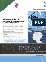 PREVENCIÓN DE LA CONDUCTA SUICIDA EN EL ÁMBITO EDUCATIVO