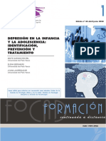 DEPRESIÓN EN LA INFANCIA Y LA ADOLESCENCIA IDENTIFICACIÓN, PREVENCIÓN Y TRATAMIENTO