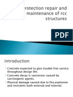 Protection repair and maintenance of rcc structures