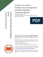 [Pubblicazioni della Facoltà di Lettereto Giacomelli - Problemi di storia linguistica del latino dialettale. I. Ricerche falische (1979, La Nuova - libgen.lc.pdf