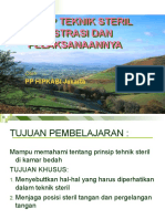 الحمد الله Prinsip Teknik Steril.ppt