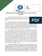 Activitate 1.2.2. Profilul de formare al absolventului de clasa a VIII-a prezentat părinților