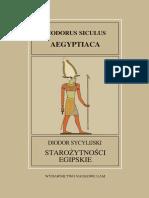 Diodor Sycylijski, Starożytności egipskie (Biblioteka Historyczna I)