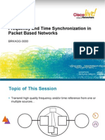 Frequency and Time Synchronization in Packet Based Networks