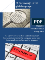 Kalenikova Iryna.The role of borrowings in the English language.pptx