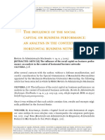 2-OLIVEIRA J F-The influence of the social capital on business performance