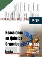 8402-15 QUIMICA Reacciones en Química Orgánica