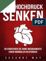 Bluthochdruck senken_ So erreichen Sie ohne Medikamente einen normalen Blutdruck_ Blutdruck senken, Blutdruck senken ohne Medikamente (German Edition)