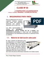 CLASE 03 equipos para procesmiento de vins,piscos...