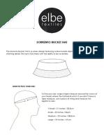 Sorrento Bucket Hat Instructions