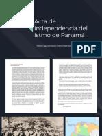 Acta de Independencia del Istmo de Panamá