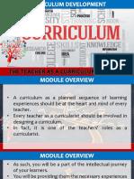 8 The Teacher as a Curriculum Designer - Lesson 1