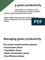 Managing green productivity