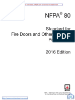 NFPA 80 2016 Std, Fire Doors and Fire Windows