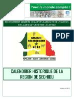 Calendrier historique Sedhiou