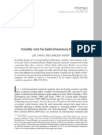 Imf - Volatility and the Debt-Intolerance Paradox