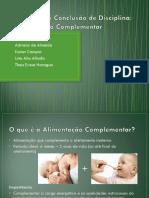 TCD - Alimentação complementar