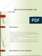 DETERMINANTS OF EXPORT & IMPORT -Tony