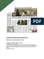 CACERÍA DE BRUJAS EN MONCLOVA