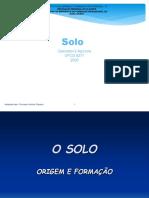 O SOLO-Origem e Formação