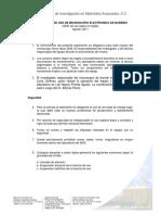 16-REGLAMENTO DE USO DE MICROSCOPIO ELECTRONICO DE BARRIDO