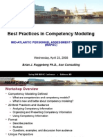 MAPAC Workshop Presentation - Best Practices in Competency Modeling